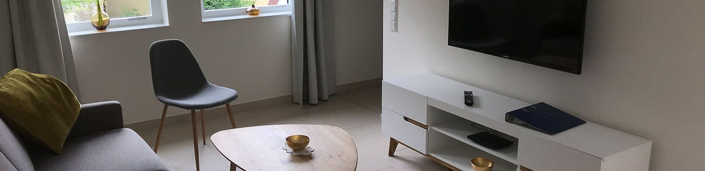Ferienwohnung Steinfurt: Ferienhaus Teigeler - Wohnzimmer